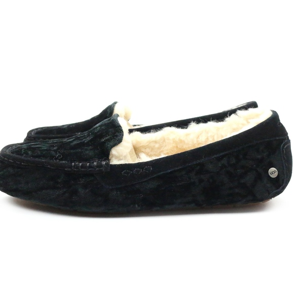Ugg Shoes Ugg Ansley Crushed Velvet Sheepskin Black